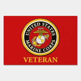 US Marine Official Seal - Veteran Yard Sign