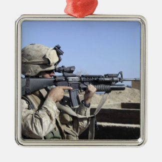 US Marine sites through the scope Metal Ornament