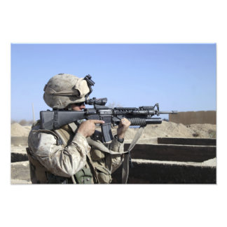 US Marine sites through the scope Photo Print