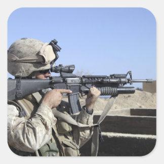 US Marine sites through the scope Square Sticker