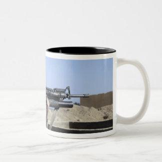 US Marine sites through the scope Two-Tone Coffee Mug