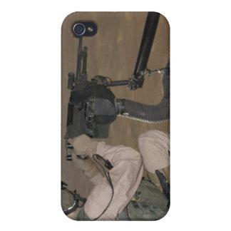 US Marine test firing an M240 heavy machine gun iPhone 4/4S Cases