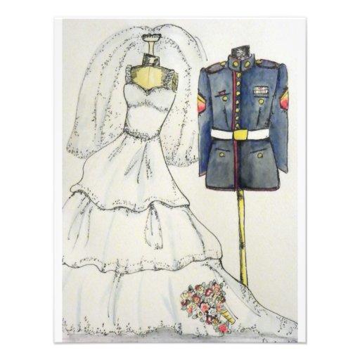 US Marine Wedding Invitations 425 X 55 Invitation Card
