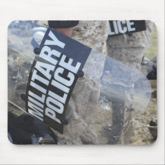 US Marines and Sailors don riot gear Mouse Pad