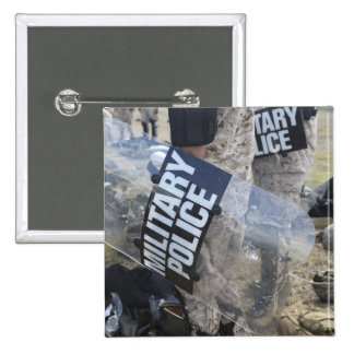 US Marines and Sailors don riot gear Pinback Button