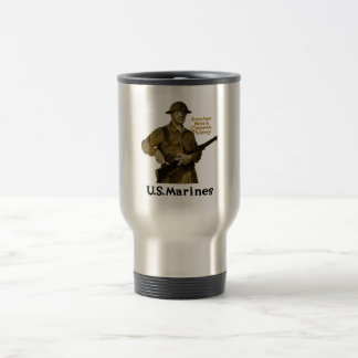 US Marines -- Another Notch Chateau Thierry 15 Oz Stainless Steel Travel Mug