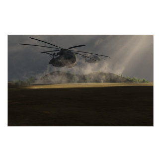 US Marines CH53 Poster