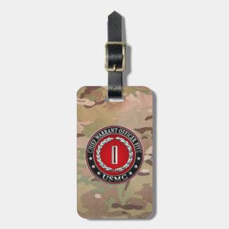 US Marines: Chief Warrant Five (USMC CWO-5) [3D] Bag Tag