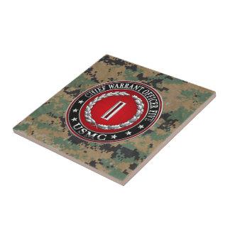 US Marines: Chief Warrant Five (USMC CWO-5) [3D] Small Square Tile