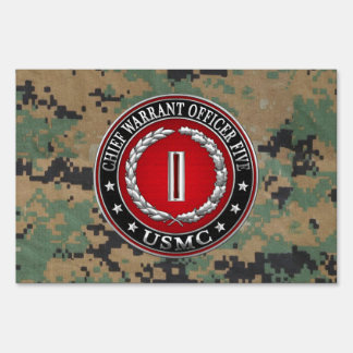 US Marines: Chief Warrant Five (USMC CWO-5) [3D] Yard Sign