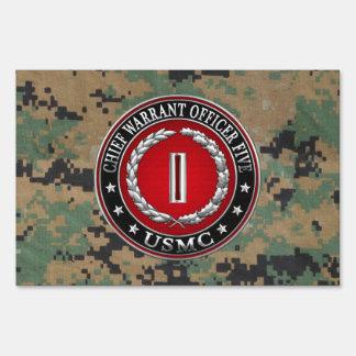 US Marines: Chief Warrant Five (USMC CWO-5) [3D] Sign