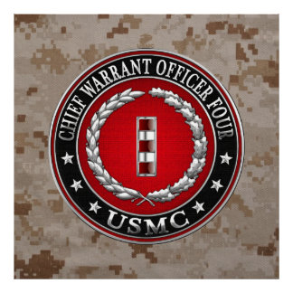 US Marines: Chief Warrant Four (USMC CWO-4) [3D] Poster