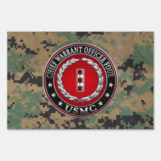 US Marines: Chief Warrant Four (USMC CWO-4) [3D] Sign