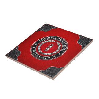US Marines: Chief Warrant Four (USMC CWO-4) [3D] Small Square Tile