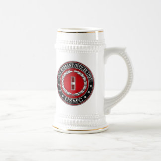 US Marines: Chief Warrant Three (USMC CWO-3) [3D] Beer Stein