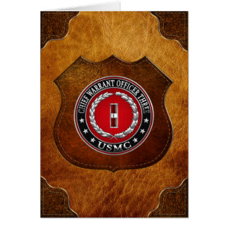 US Marines: Chief Warrant Three (USMC CWO-3) [3D] Card