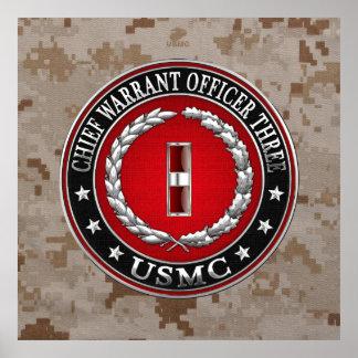 US Marines: Chief Warrant Three (USMC CWO-3) [3D] Poster