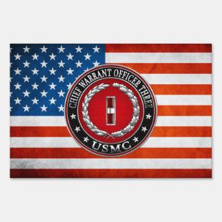 US Marines: Chief Warrant Three (USMC CWO-3) [3D] Sign