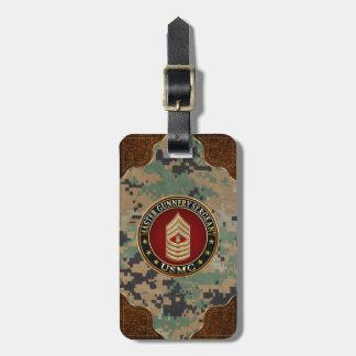US Marines: Master Gunnery Sergeant (USMC MGySgt) Bag Tag