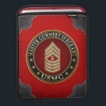 "US Marines: Master Gunnery Sergeant (USMC MGySgt) iPad Sleeve<br><div class=""desc"">Introducing project ""Military Insignia 3D"", featuring top quality military heraldry designs. Here you will find customizable apparel, accessories, custom postage and gifts decorated with rank insignia of a U.S. Marine Master Gunnery Sergeant (USMC MGySgt). Master Gunnery Sergeant (MGySgt) is the ninth and highest enlisted rank (along with the grade-equivalent ranks...</div>"