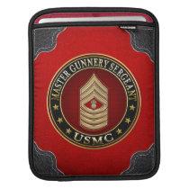 US Marines: Master Gunnery Sergeant (USMC MGySgt) iPad Sleeve