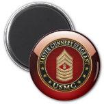 US Marines: Master Gunnery Sergeant (USMC MGySgt) Refrigerator Magnet