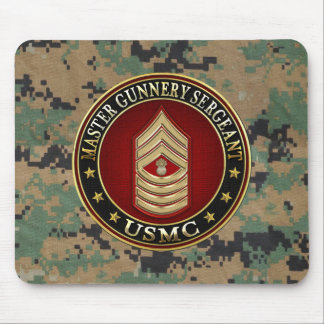 US Marines: Master Gunnery Sergeant (USMC MGySgt) Mouse Pad