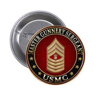 US Marines: Master Gunnery Sergeant (USMC MGySgt) Pinback Button