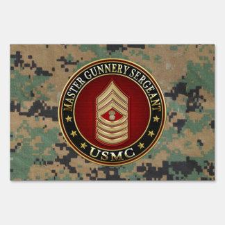 US Marines: Master Gunnery Sergeant (USMC MGySgt) Lawn Signs