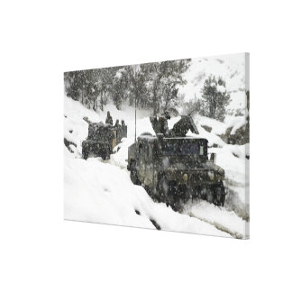 US Marines patrol in Khowst-Gardez Pass Canvas Print