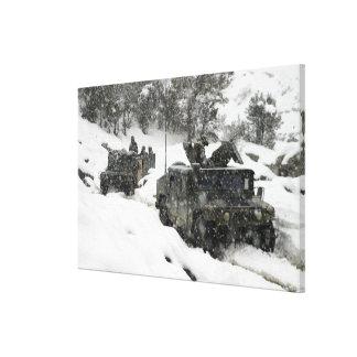 US Marines patrol in Khowst-Gardez Pass Canvas Print