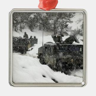 US Marines patrol in Khowst-Gardez Pass Metal Ornament