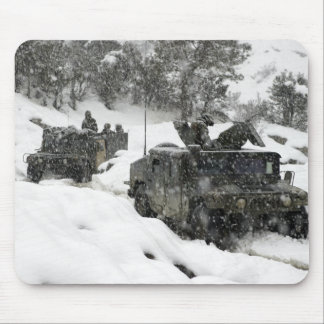 US Marines patrol in Khowst-Gardez Pass Mouse Pad