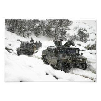 US Marines patrol in Khowst-Gardez Pass Photo Print