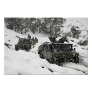 US Marines patrol in Khowst-Gardez Pass Poster