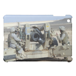 US Marines prepare to fire a howitzer iPad Mini Cover