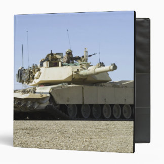 US Marines provide security in a battle tank Binder
