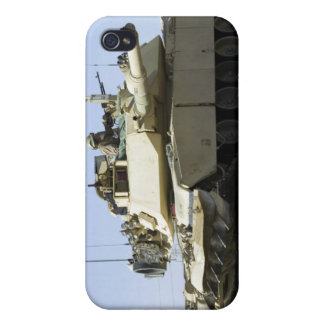 US Marines provide security in a battle tank iPhone 4/4S Case