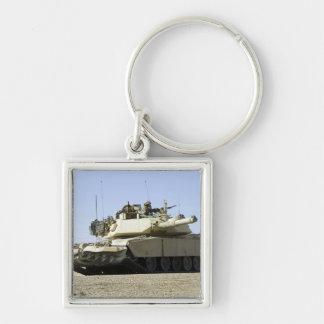 US Marines provide security in a battle tank Key Chain