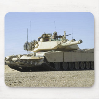 US Marines provide security in a battle tank Mousepads