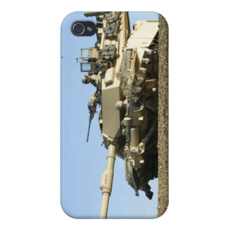 US Marines provide security in an M1A1 Abrams t iPhone 4 Case