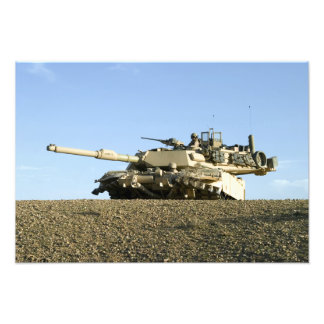 US Marines provide security in an M1A1 Abrams t Photo