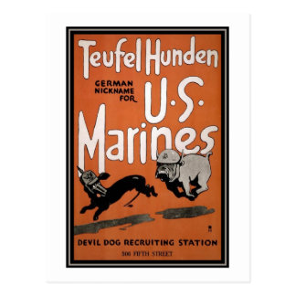 US Marines Recruiting Poster Postcard