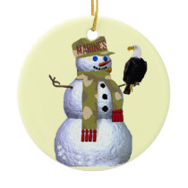 US Marines Snowman Ornament