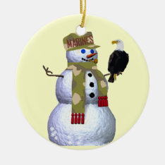 Us Marines Snowman Ornament at Zazzle