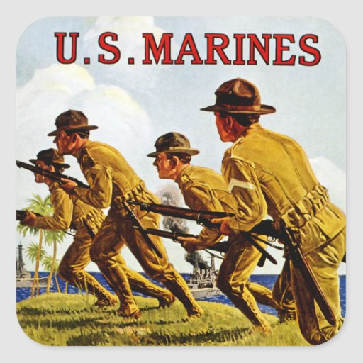 US Marines ~ Soldiers of the Sea Square Sticker