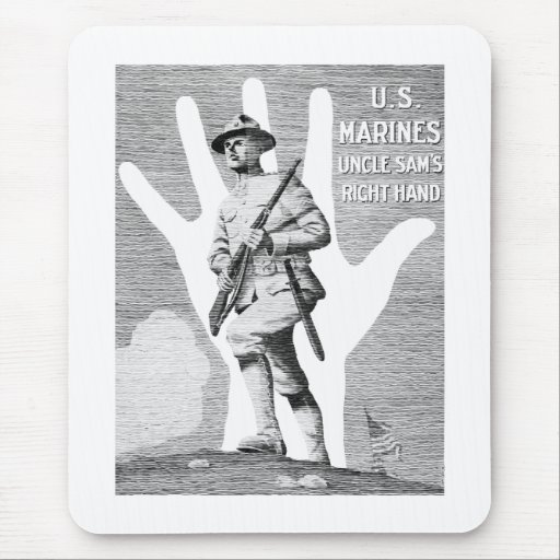 US Marines -- Uncle Sam's Right Hand Mouse Pad