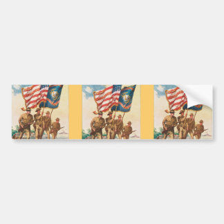 US Marines WW 1 Vintage Poster Bumper Sticker