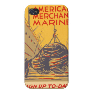 US Maritime Service iPhone 4 Cover