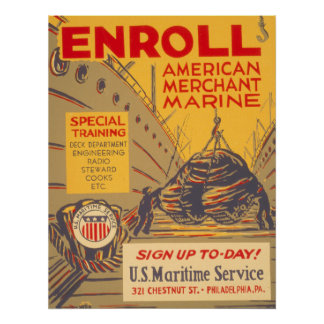 US Maritime Service Posters